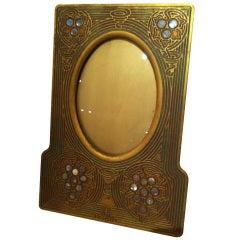 Tiffany Studios Bronze Dore  Abalone Picture Frame