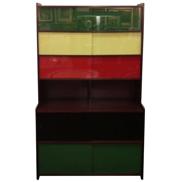 Claude Vassal French 50s Book shelf Cabinet