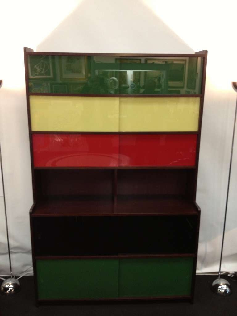 Claude Vassal French 50s Book shelf Cabinet For Sale at 1stdibs