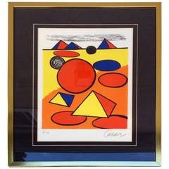 Alexander Calder Lithograph, Petite Triangles Artist Edition