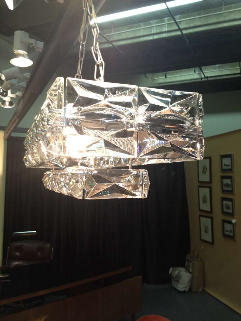 Austrian Lobmeyr 1960 Crystal Chandelier In Excellent Condition For Sale In Westport, CT