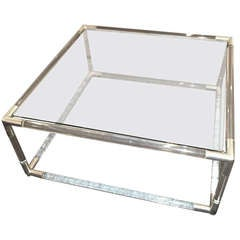 Charle Hollis Jones Lucite Square cocktail table