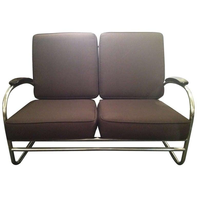 Kem Weber for Lloyd Art Deco love seat