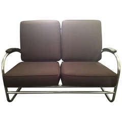 Kem Weber for Lloyd Art Deco love seat