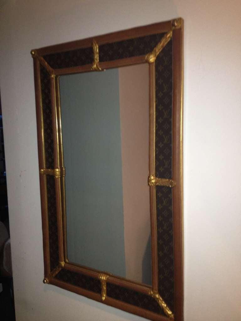 Pair handmade custom louis vuitton monogram mirrors at 1stdibs for Custom made mirrors