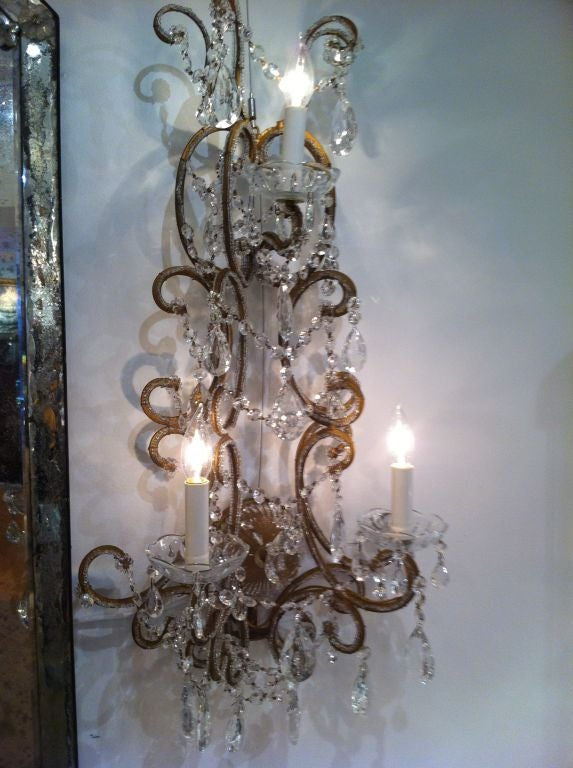Set of Four French 1930 Sconces In Excellent Condition For Sale In Westport, CT