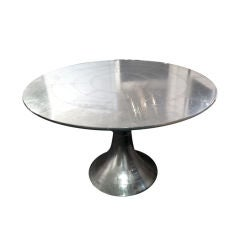 Sheet metal and rivet Covered Tulip Table