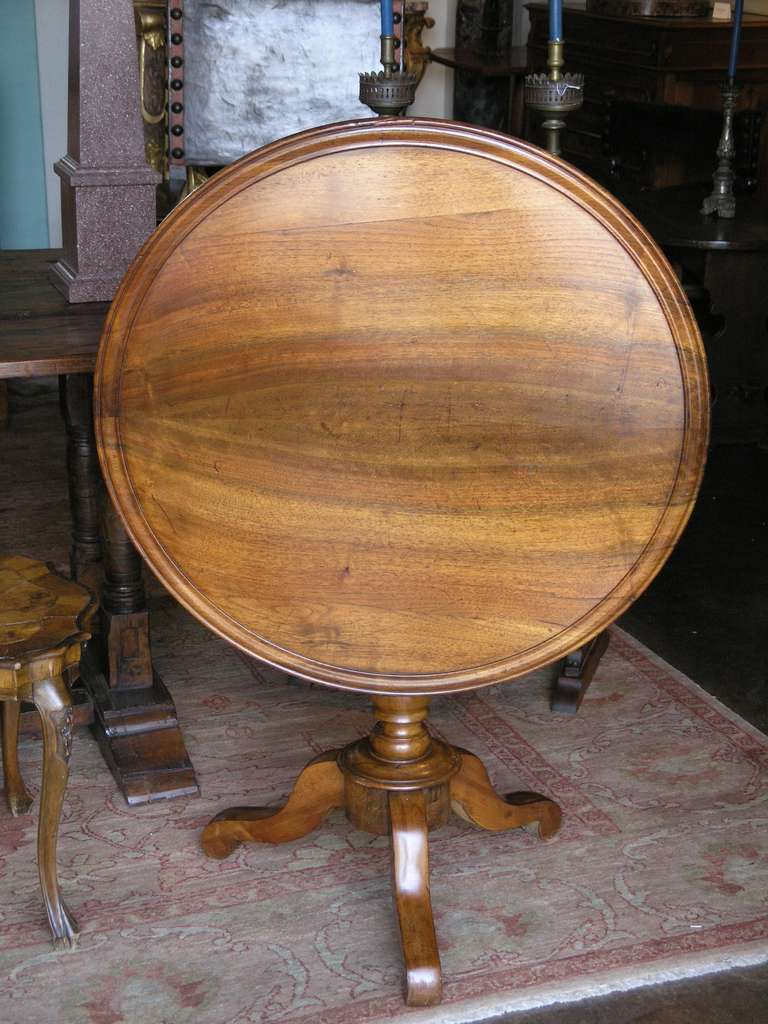 Louis philippe tilt top table for sale at 1stdibs for Table ronde louis philippe