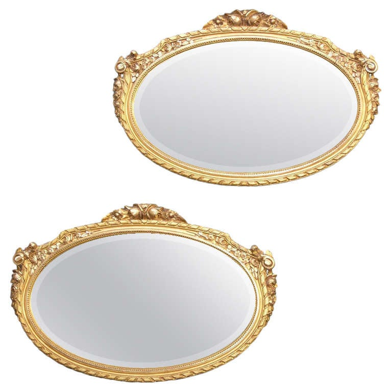 Pair of 24-Karat Giltwood Mirrors