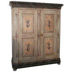 Northern Italian Paint Decorated Armoire