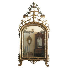 Italian Painted and Giltwood Mirror