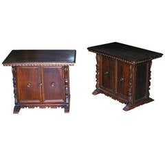 Pair of Tuscan Side Tables