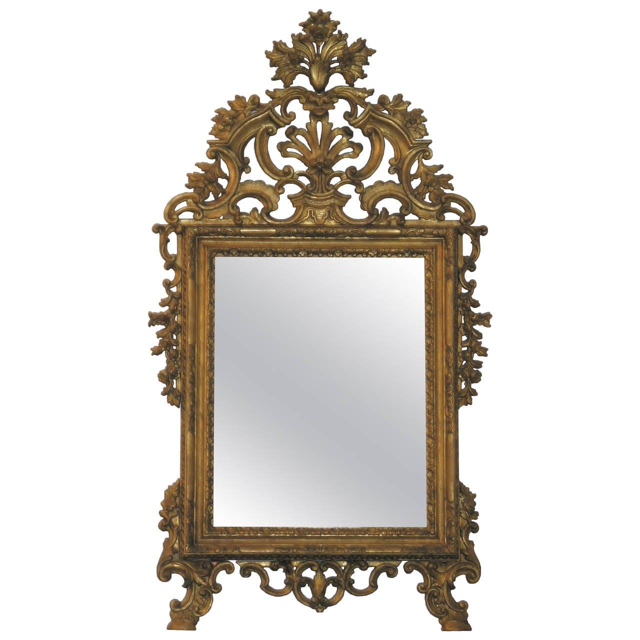 Northern Italian Giltwood Mirror