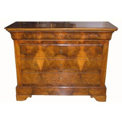 Louise Philippe Burl Walnut Commode