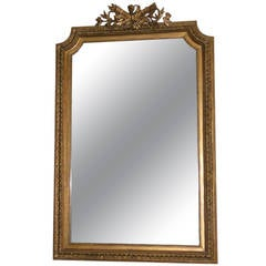 French Napoleon III Wall Mirror