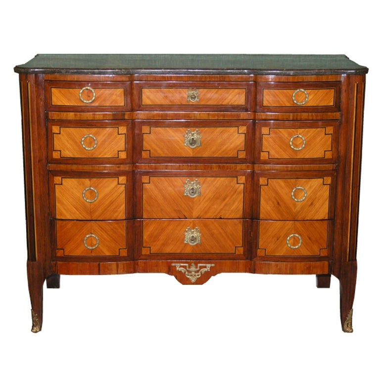 Inlaid Marble-Top Commode