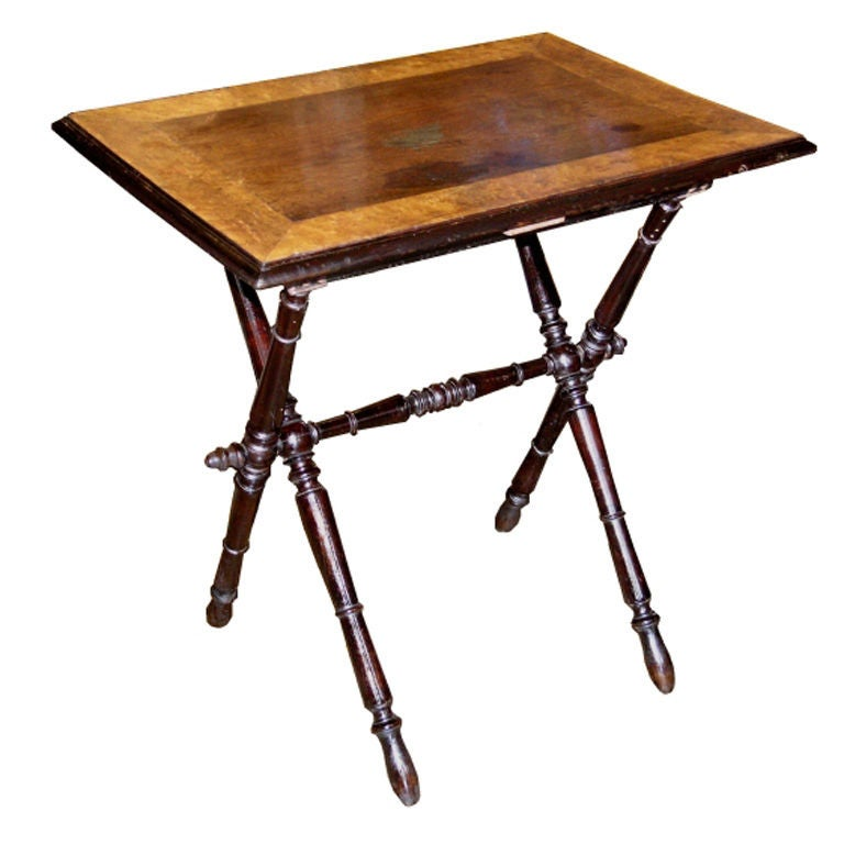 19th century folding side table for sale at 1stdibs. Black Bedroom Furniture Sets. Home Design Ideas