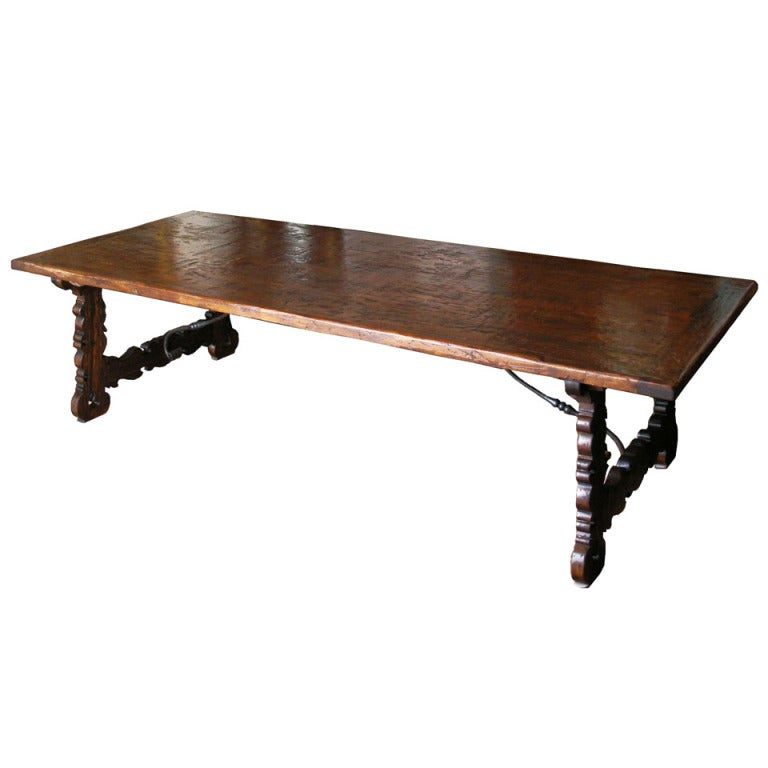 Large Tuscan Refectory Trestle Table at 1stdibs : XXXTuScanTable from www.1stdibs.com size 768 x 768 jpeg 34kB