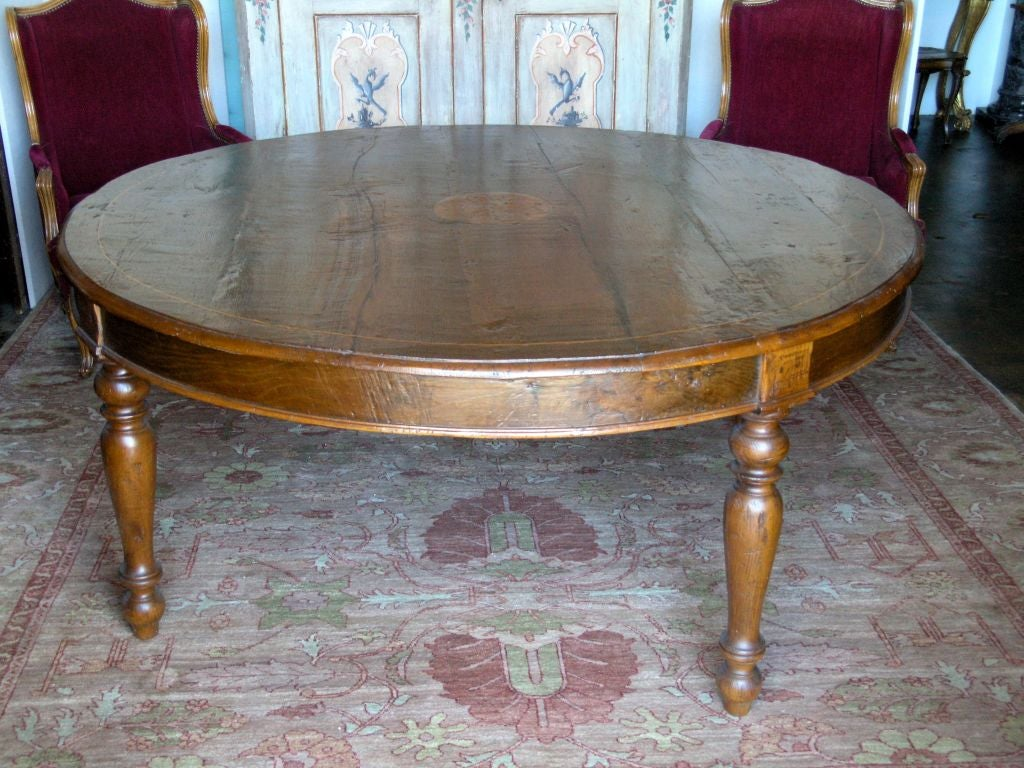 Large Tuscan Round Dining Table Last Quarter of 19th  : 910913264004331 from www.1stdibs.com size 1024 x 768 jpeg 152kB