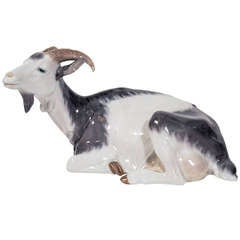 Elegant Porcelain Goat Figurine by C. Thomsen for Royal Copenhagen