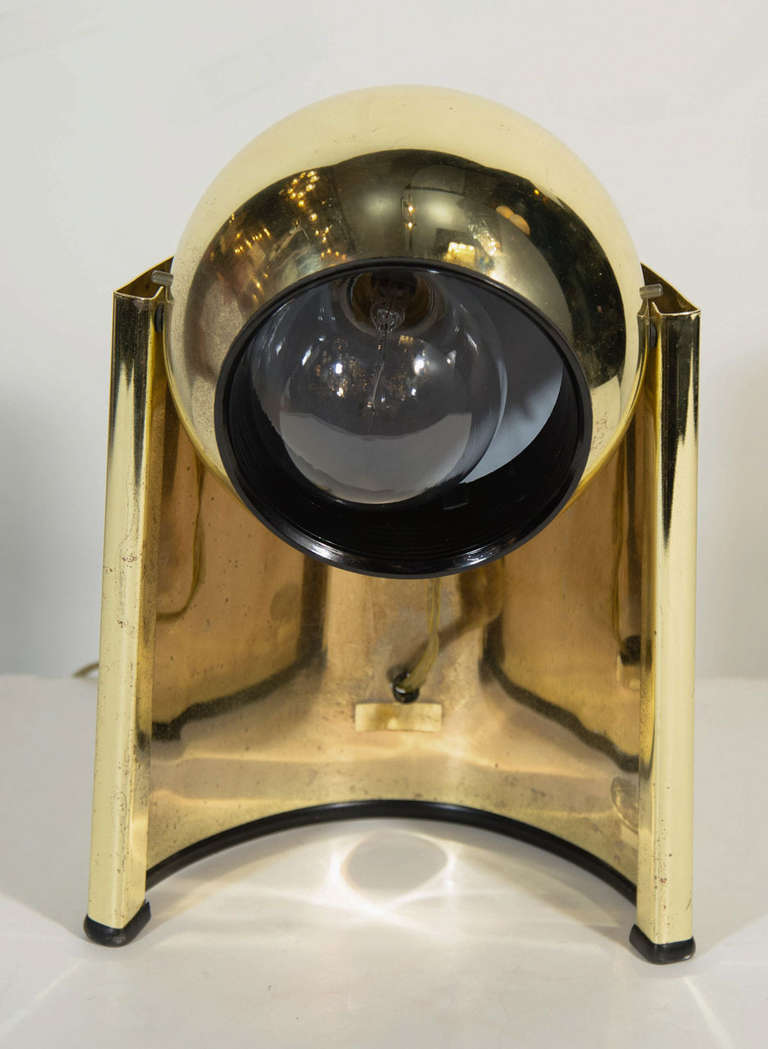 Mid-20th Century Pair of Mid-Century Brass Spot Lights in the Style of George Kovacs For Sale