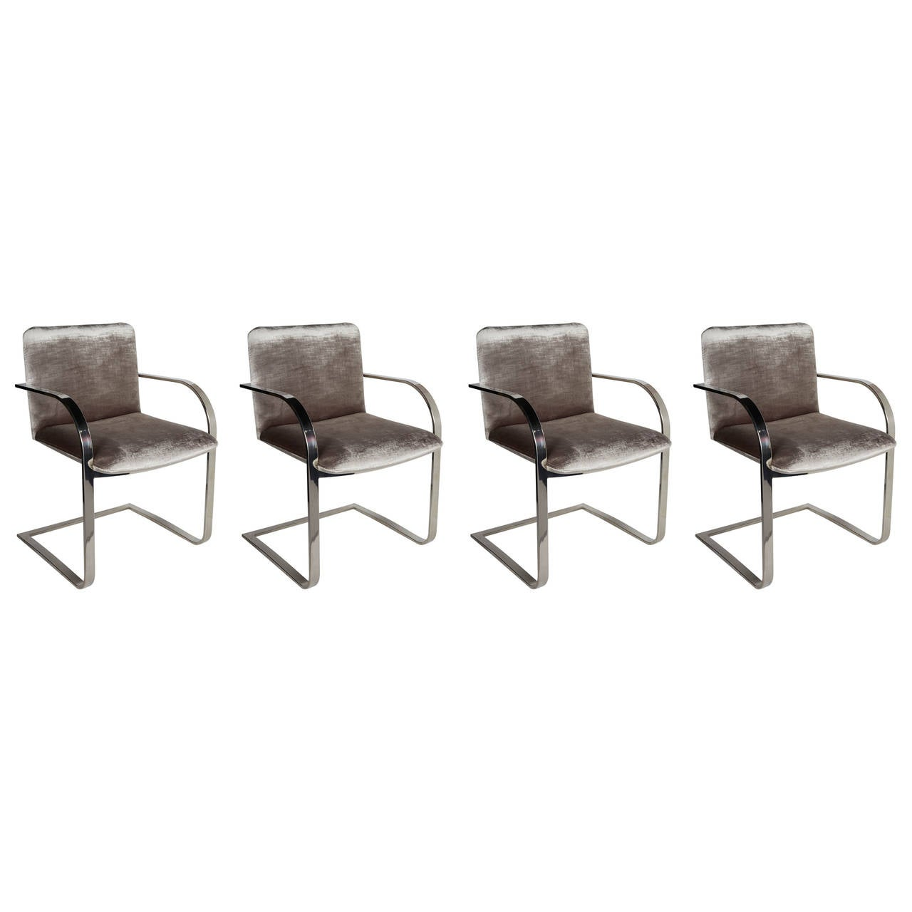 Set Of Four Modernist Dining Chairs Or Conference Chairs