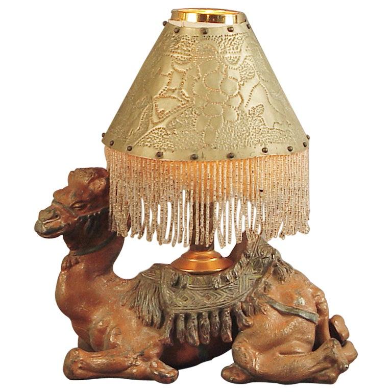 Art Deco Camel Lamp Ca 1925 At 1stdibs