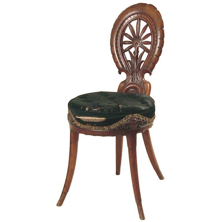 Highly Ornate Carved Victorian Piano Stool or Chair  : XXXamfurnpianostool1DB1 from www.1stdibs.com size 768 x 768 jpeg 41kB
