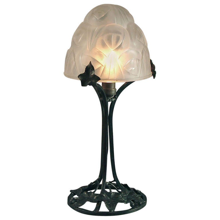 french art deco boudoire table lamp by degu wrought. Black Bedroom Furniture Sets. Home Design Ideas