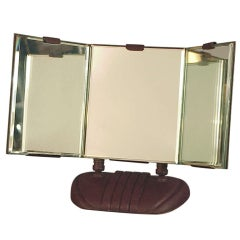 Art Deco Modernist Triple-view Vanity Mirror