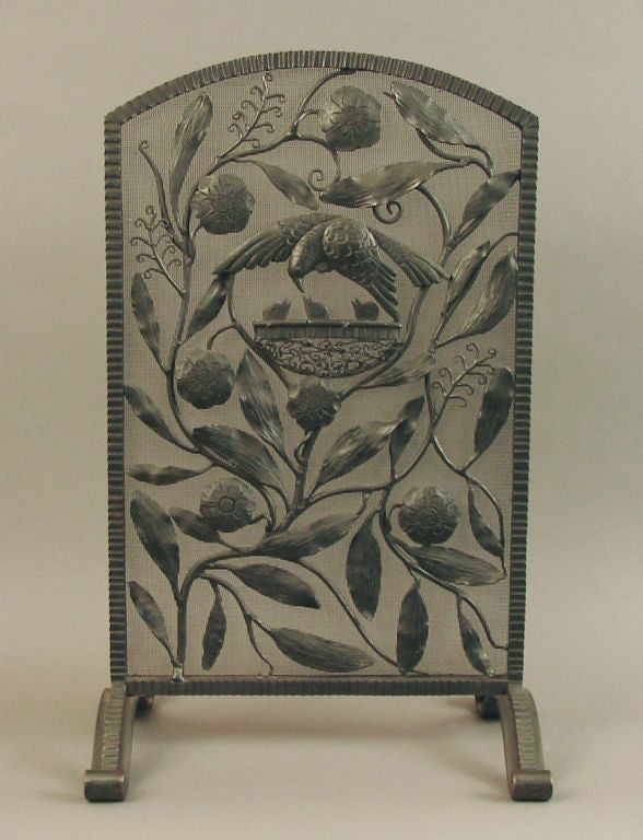 French Art Deco Wrought Iron Fire Place Or Table Screen At 1stdibs