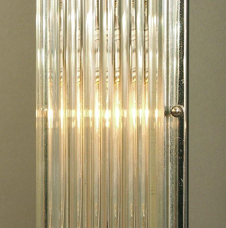 Glass Rod Wall Sconces : Huge American Art Deco/Modernist Glass Rod Wall Sconces at 1stdibs