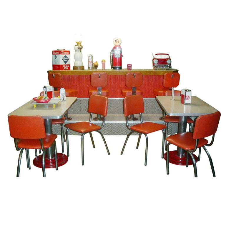 Fabulous Fifties Soda Fountain Counter And Tables Stools And Chairs And More