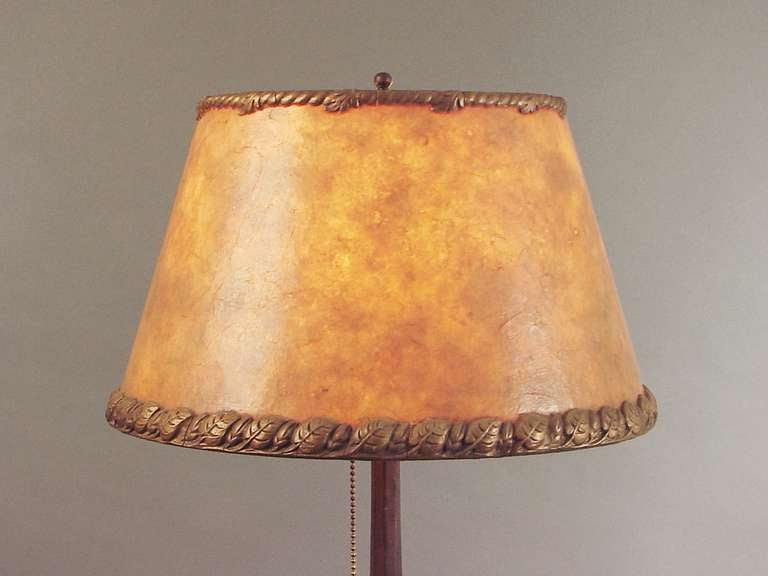 an austrian table lamp with mica shade circa 1910 at 1stdibs. Black Bedroom Furniture Sets. Home Design Ideas