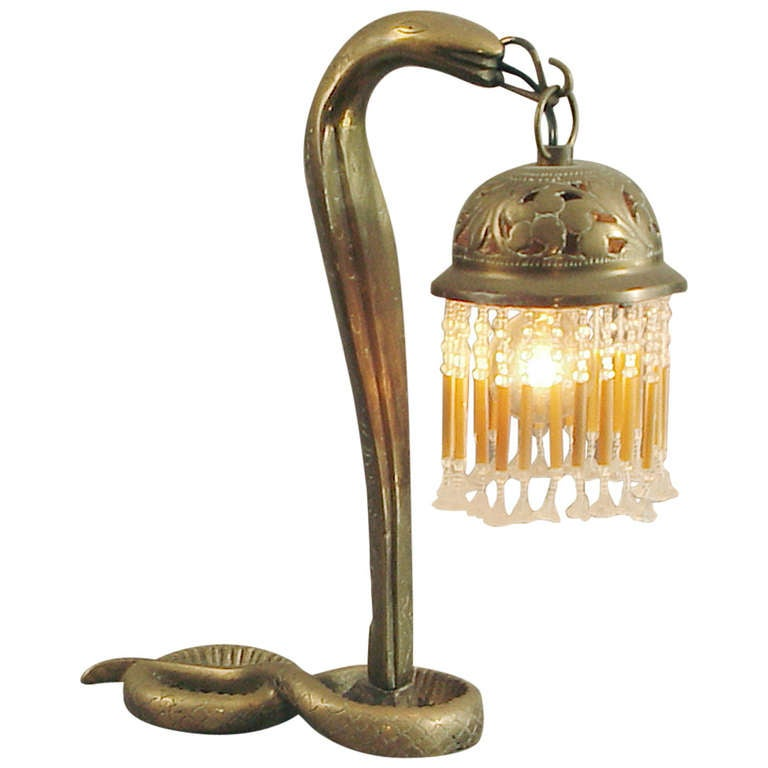 Syrian Art Deco Snake Cobra Lamp Ca 1920 Or Earlier At
