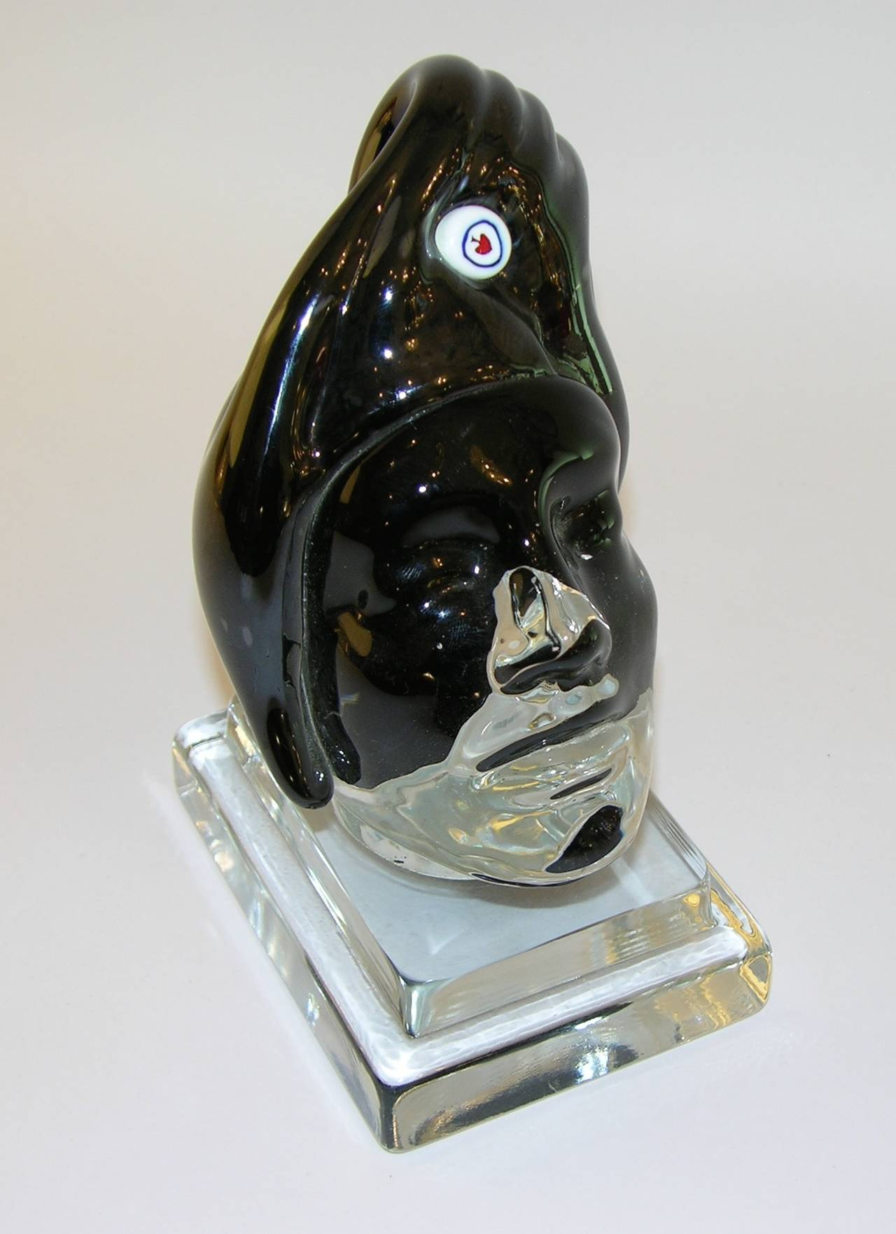 Italian Blown Murano Glass Head Sculpture 4