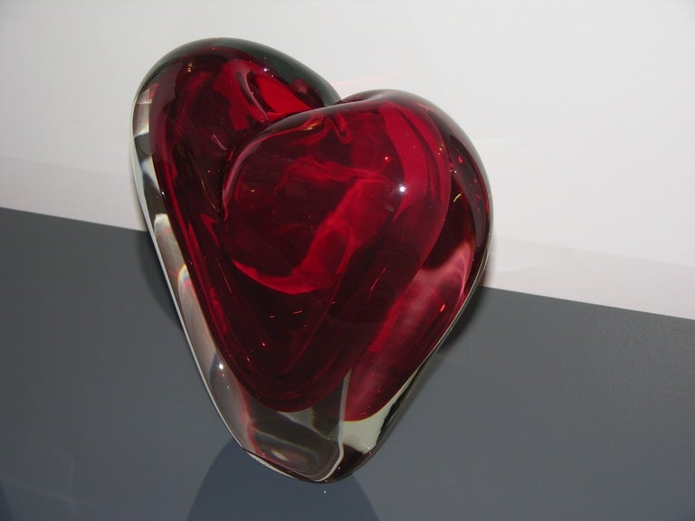 Vintage Murano Heart-Shaped Vase By Colizza  image 7