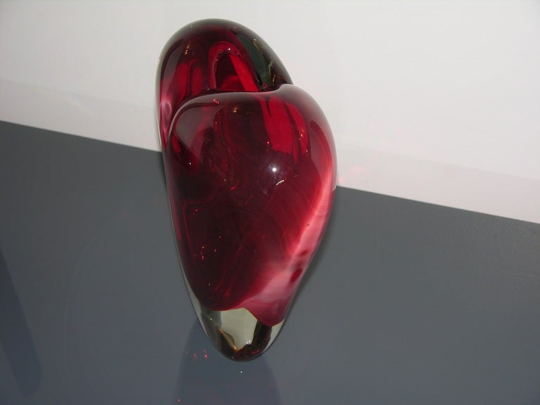 Vintage Murano Heart-Shaped Vase By Colizza  5