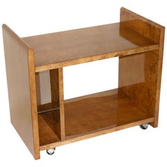 Aldo Tura Rare Amber Goatskin Cart or Side Table