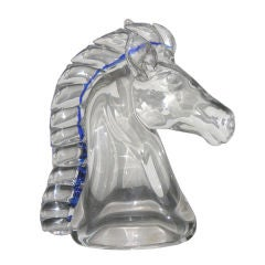 Vintage Italian Sculptural Glass Horse