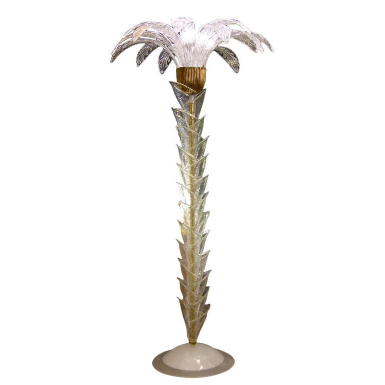 1970s Italian Palm Tree Floor Lamp In Murano Glass At 1stdibs