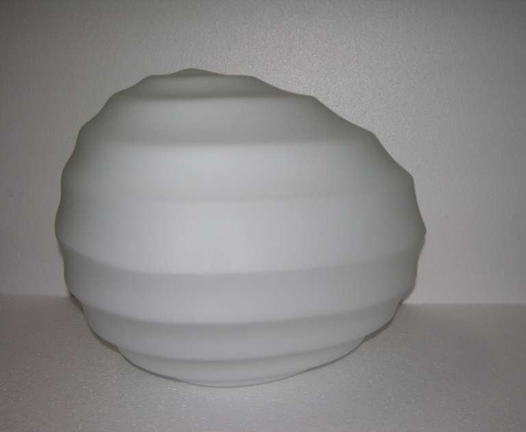 Toso Vintage 1960s Italian Stone Like White Murano Glass Table / Floor Lamp For Sale 1