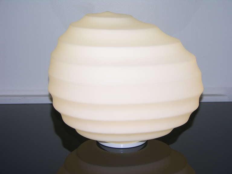 Mid-Century Modern Toso Vintage 1960s Italian Stone Like White Murano Glass Table / Floor Lamp For Sale