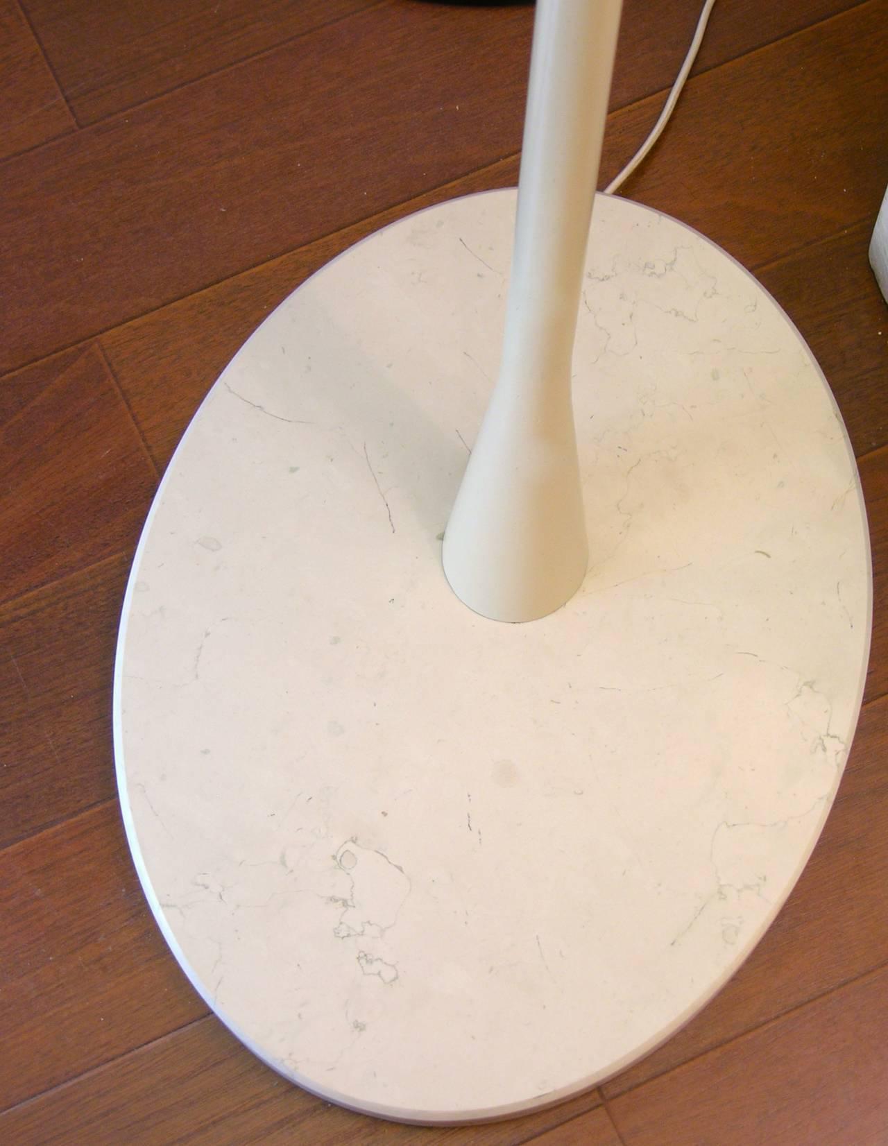 1960s Italian Black and Ivory White Modern Floor Lamp in the Style of Stilnovo For Sale 2