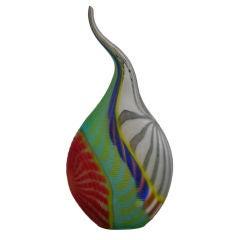 Extraordinary Vintage Murano Glass Sculptural Vase Signed Tagliapietra