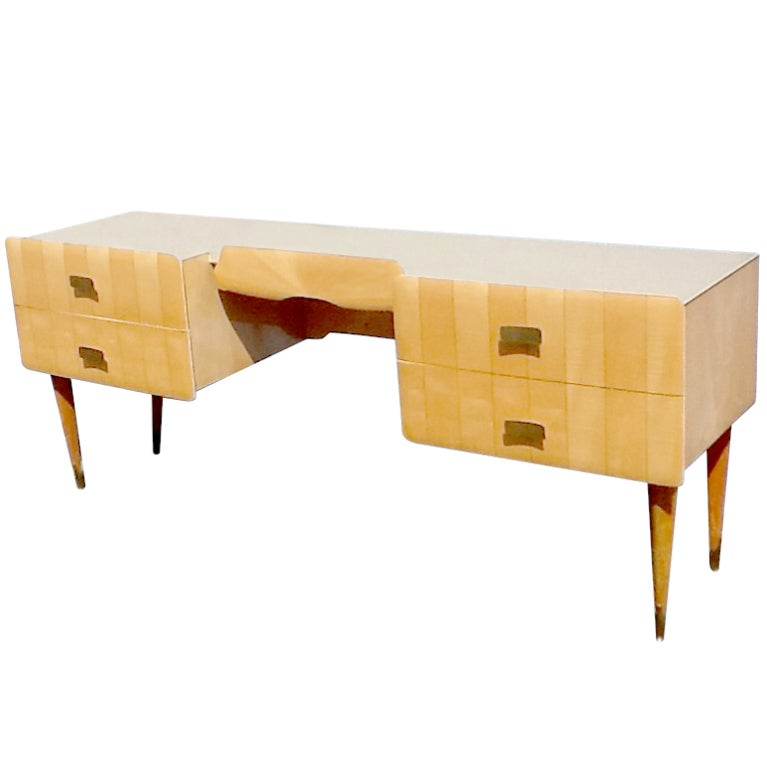 1950s Pier Luigi Colli Vintage Italian Design Desk in Ashwood