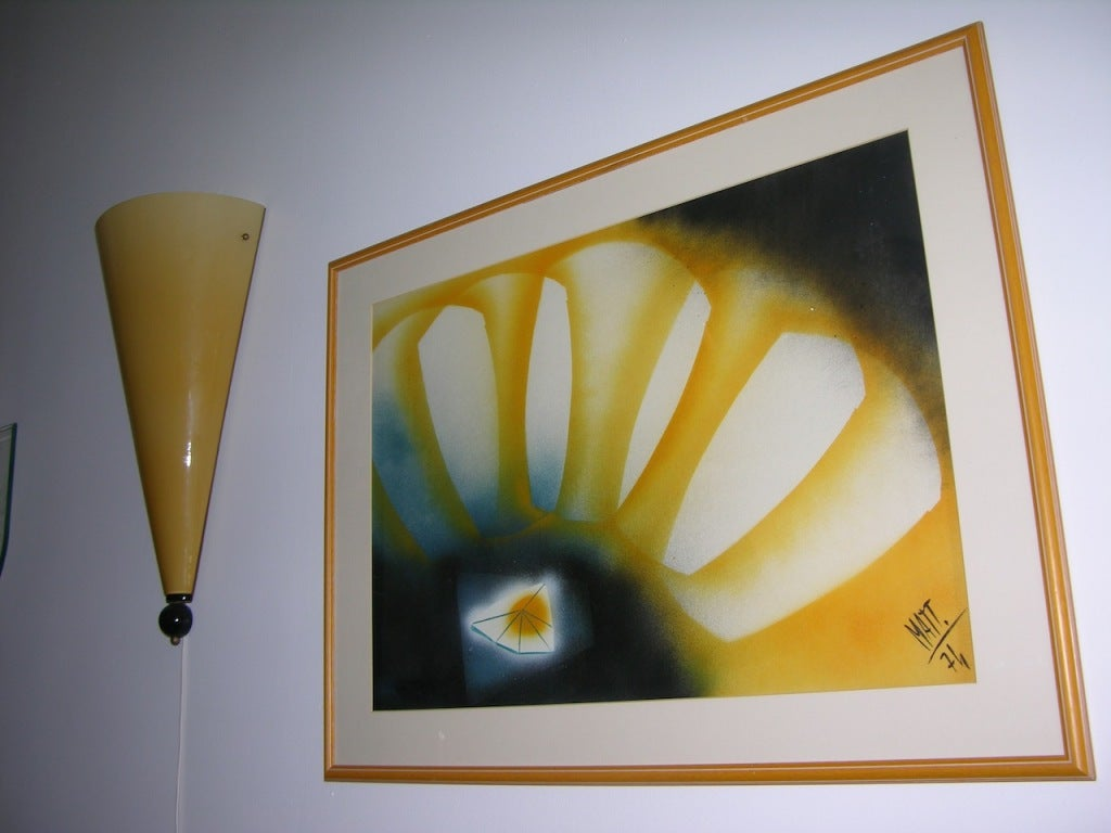 Italian Vintage Abstract Painting by Luciano Mattioli For Sale