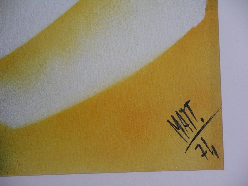 Vintage Abstract Painting by Luciano Mattioli In Excellent Condition For Sale In New York, NY