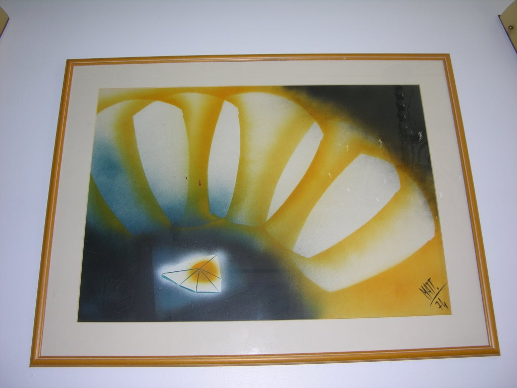 Late 20th Century Vintage Abstract Painting by Luciano Mattioli For Sale