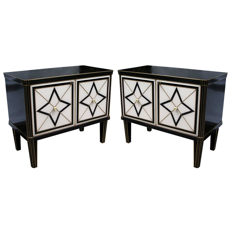 1980 italian design pair of black and white cabinets side for 1980s furniture design